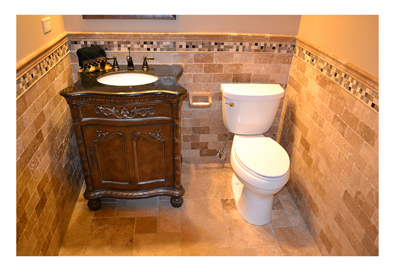 Basement Bathroom Remodel, Naperville, IL - JW Construction & Design Services