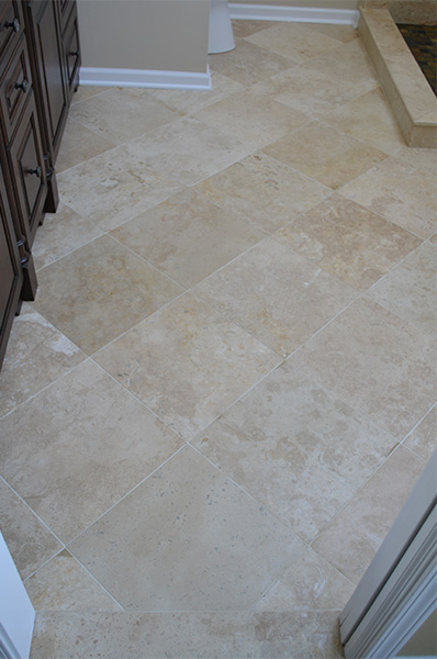 Bathroom Floor Tile Installation, Aurora, IL - JW Construction & Design Services