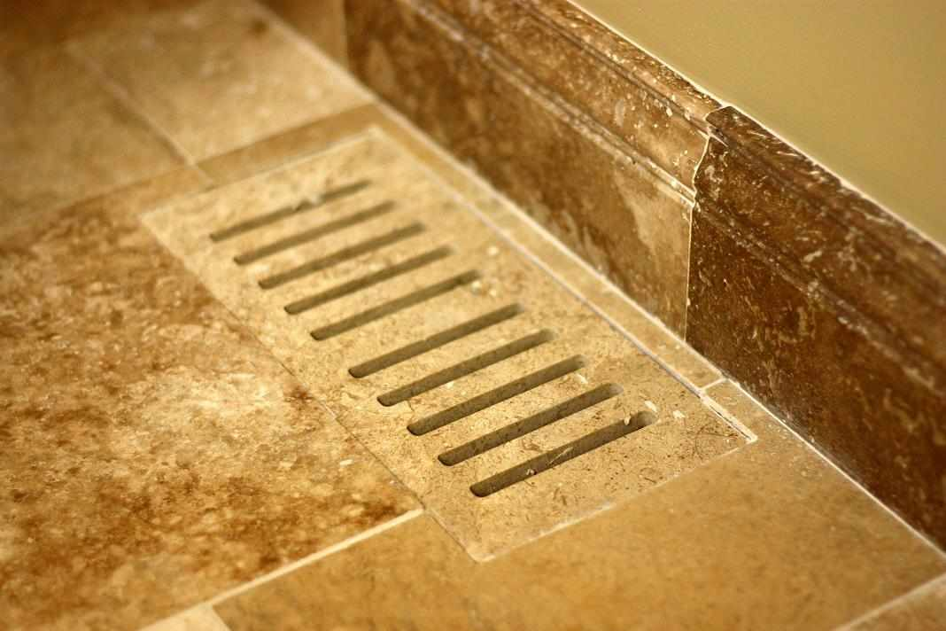 Travertine Vent Set Flush With The Floor ...